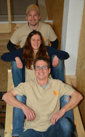 Bernhard, Nicole und Josef (v.u.)