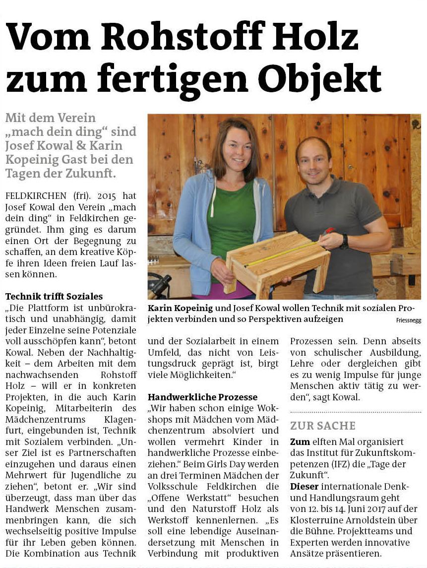 """WOCHE-Bericht """"Tage der Zukunft 2017"""""""